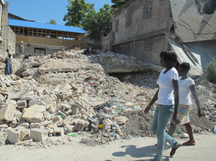 Downtown Port-au-Prince, September 2010. Not much has changed in the eight months following the quake.