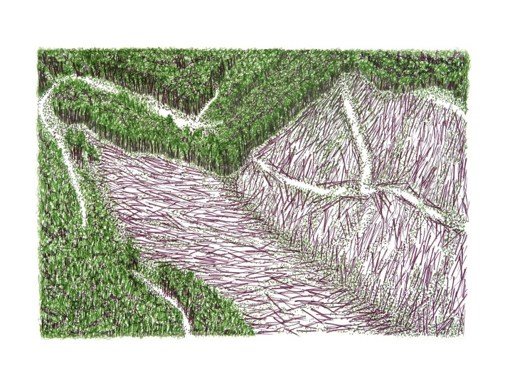Mountain Strip Mine Landscape No. 1