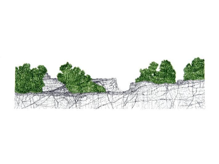 Mountain Strip Mine Landscape No. 5