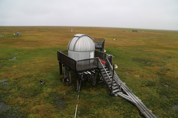 NOAA's Point Barrow, Alaska, observatory, close to the edge of the Arctic Ocean, and numerous other climate science lavatories throughout the area