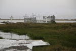 Flooded graveyard due to melting permafrost, Utqiagvik, AK
